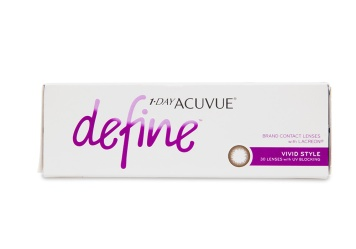 """Celebrate the one of a kind beauty of your own eyes with new 1 Day Acuvue Define contact lenses a line inspired by the unique allure of a everyones true natural colour. Using the same acclaimed design behind 1 Day Acuvue Moist these five new lenses offer superior comfort and use expertly blended designs to seamlessly compliment your eye colour brighten and highlight and bring dimension and definition without drastically changing your natural look.  brbr1 Day Acuvue Define Vivid 30 Pack is also available in a convenient a href""""/contact-lenses/acuvue/1-day-acuvue-define-vivid-style-90-pack""""1 Day Acuvue Define Vivid 90 Pack!/a"""
