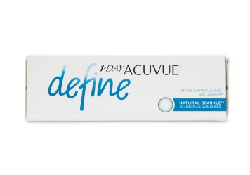 """Acuvue Define contact lenses a line inspired by the unique allure of a everyones true natural colour. Using the same acclaimed design behind 1 Day Acuvue Moist these five new lenses offer superior comfort and use expertly blended designs to seamlessly compliment your eye colour brighten and highlight and bring dimension and definition without drastically changing your natural look.  brbr1 Day Acuvue Define Natural Sparkle 30 Pack is also available in a convenient a href""""http://www.coastal.com/contact-lenses/acuvue/1-day-acuvue-define-natural-sparkle-90-pack""""1 Day Acuvue Define Natural Sparkle 90 Pack!/a"""