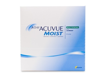 """1-Day Acuvue Moist Multifocal complete with Acuvue's exclusive LACREON&reg Technology allows contact lens wearers with presbyopia to experience the crisp and quality vision correction breathable comfort and flexible convenience of the Acuvue 1-Day family of products.pBoasting one of the highest levels of UV protection for a daily disposable lens the Acuvue line truly provides an all encompassing contact lens experience.  brbrThis product also comes ina href""""/contact-lenses/acuvue/1-day-acuvue-moist-multifocal-90-pack""""1 Day Acuvue Moist Multifocal 30 pack/a  pbr/Add power range:br/Hi: +2.00 to +2.50 br/Mid: +1.50 to +1.75 br/Low: +0.75 to +1.25/p"""