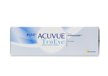 """1 Day Acuvue TruEye 30 Pack Contact Lenses are a convenient way to wear your contacts  just wear them one day and throw them away! A breakthrough in a href""""http://www.coastal.com/contact-lenses/dailies/cDailies-p1.html""""daily disposable contacts/a the new silicone hydrogel material allows for 98% oxygen to reach the cornea resulting in fewer red and dry eyes - even at the end of a long day. Enjoy the feeling of a fresh clean contact lens every day with 1 Day Acuvue TruEye 30 Pack from a href""""http://www.coastal.com/contact-lenses/JandJ-contacts/cJandJ-p1.html""""Johnson and Johnson/a."""