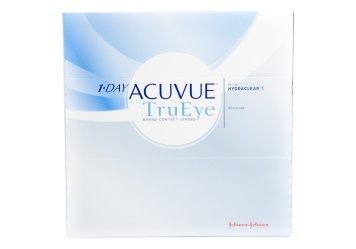 Whether you are staring at a computer screen or smart phone for long hours or tackling everyday errands Acuvue TruEye contact lenses deliver hydrating comfort and crystal clear visual acuity your eyes will thank you for.br/br/ Expertly crafted from cutting edge silicone hydrogel material infused with Hydraclear technology each TruEye lens provides a high volume of wetting agents to help maintain the natural state of your eyes and deliver all day comfort. This technology ensures clearer vision through a breathable membrane that allows more oxygen to flow through to the cornea to provide strain-free vision even on those extended wear days.br/br/ The convenience of Acuvue TruEye daily disposable contacts allows you to throw away cumbersome schedules and start each day with a fresh new set of contacts. Experience the difference of these breathable lenses which will keep your eyes bright and refreshed all day long. Coastal is pleased to offer these innovative contacts in a 90 pack as well