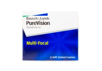 Bausch & Lomb PureVision Multifocal Contact Lenses 6 Pack
