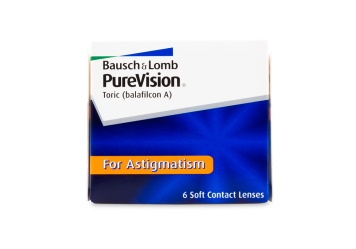 Bausch & Lomb PureVision Toric Contact Lenses 6 Pack