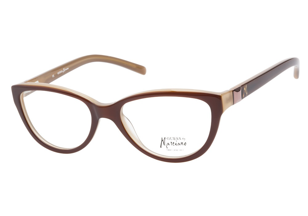 Guess Marciano Eyeglass Frames : Guess Glasses Guess by Marciano GM161 Brown Amber ...