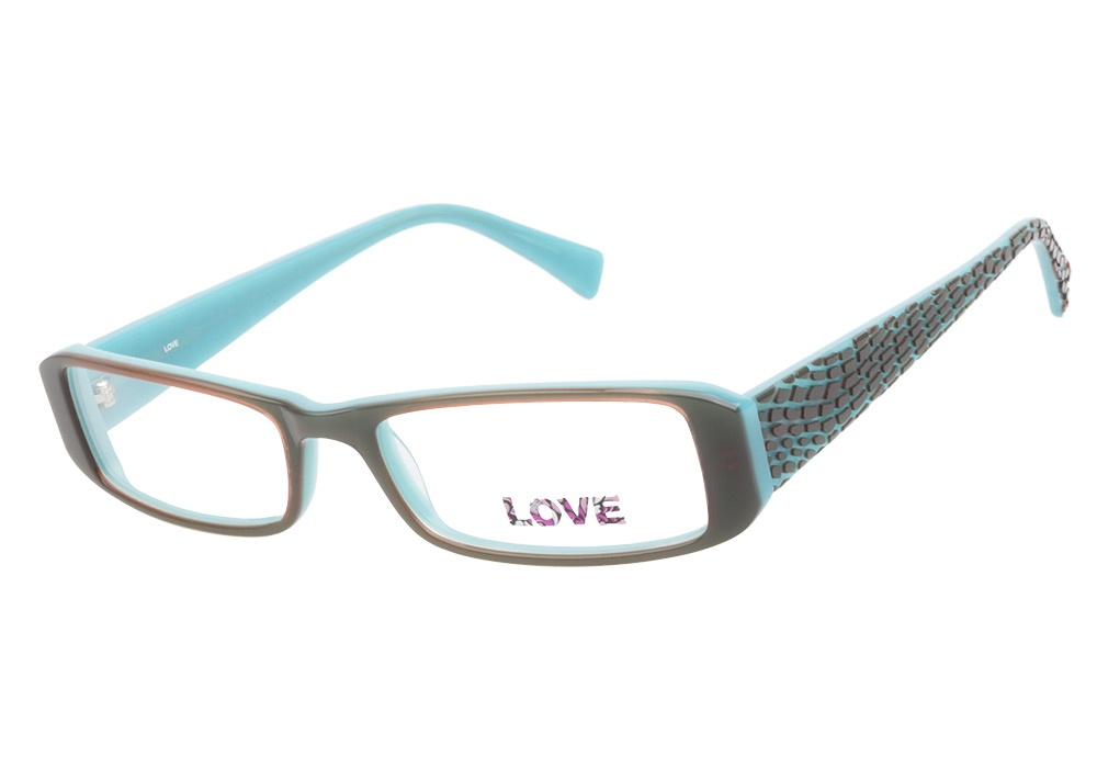 Glasses With Blue Frames : Love L727 Brown Blue Love Glasses - Coastal Contacts