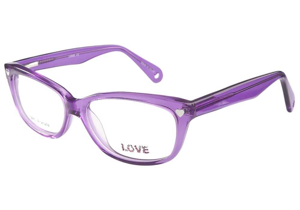 Eyeglass Frames On My Photo : Love L744 Jelly Purple Love Glasses - Coastal Contacts