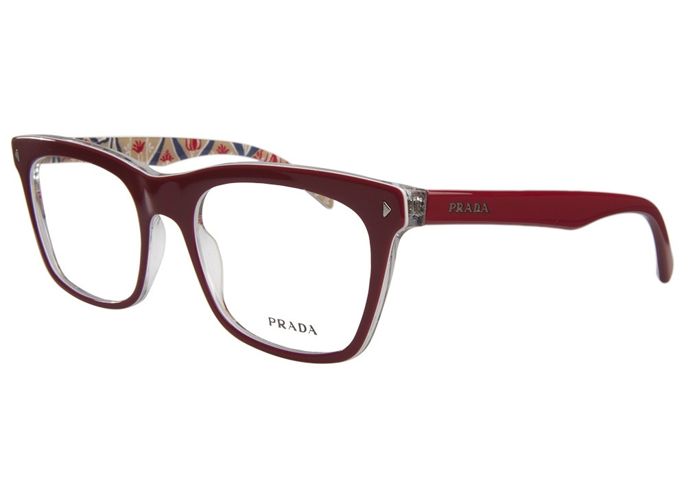 Big Red Frame Glasses : Prada 01NV AB0 1O1 Red Prada Glasses - Lensway.co.uk