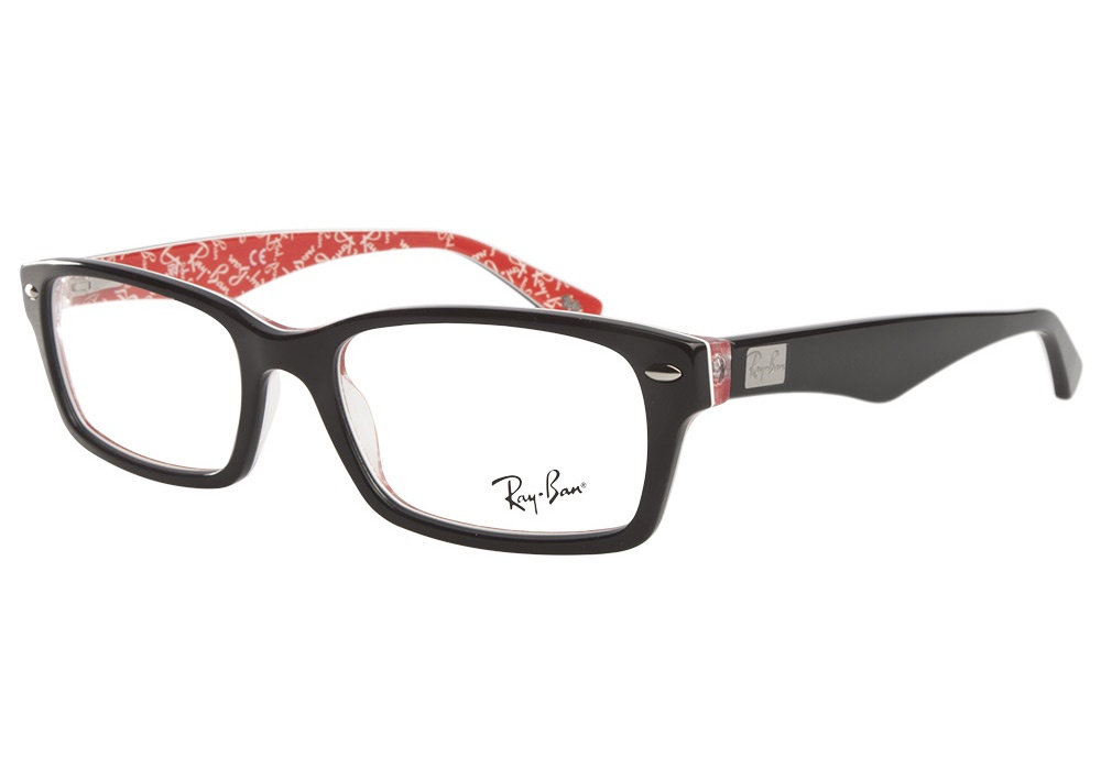 Ray Ban Glasses Without Frame : Ray-Ban 5206 2479 Black Red Texture Ray-Ban Glasses ...