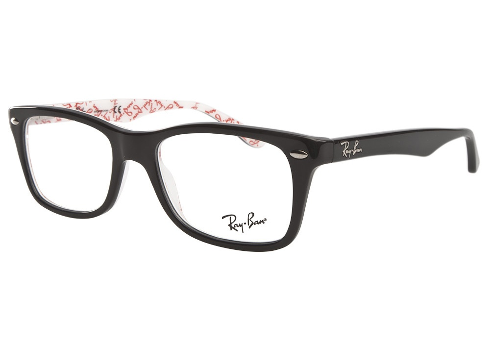 ray ban 5228 5014 black white texture ray ban glasses. Black Bedroom Furniture Sets. Home Design Ideas