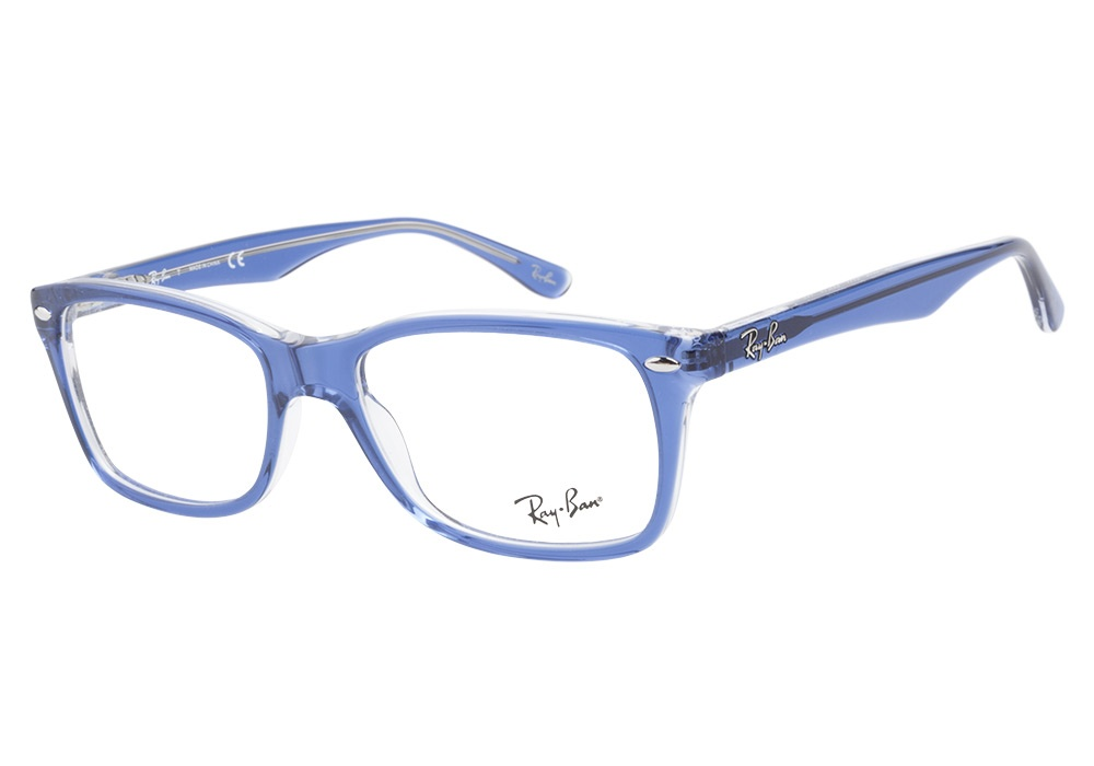 Ray-Ban 5228 5111 Top Light Blue Transparent Ray-Ban ...
