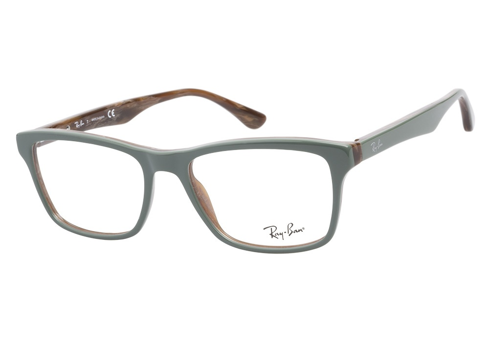 Ray-Ban RB5279 5132 Green Olive Brown Horn Ray-Ban ...