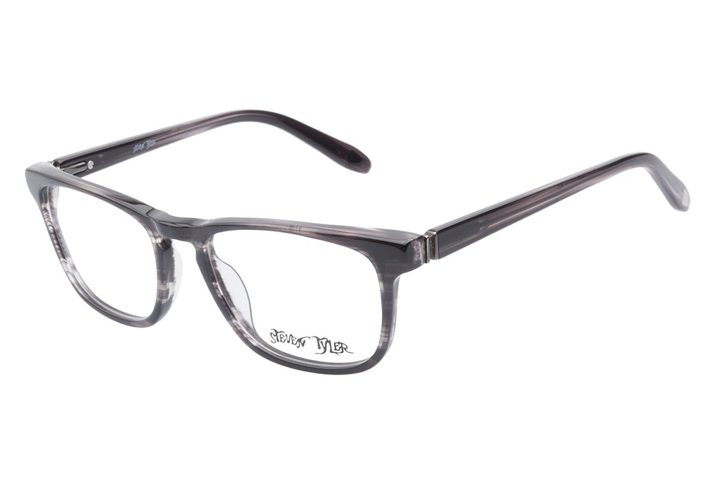 Glasses Frame Black And White : Steven Tyler Glasses Steven Tyler 410 Dark Grey ...