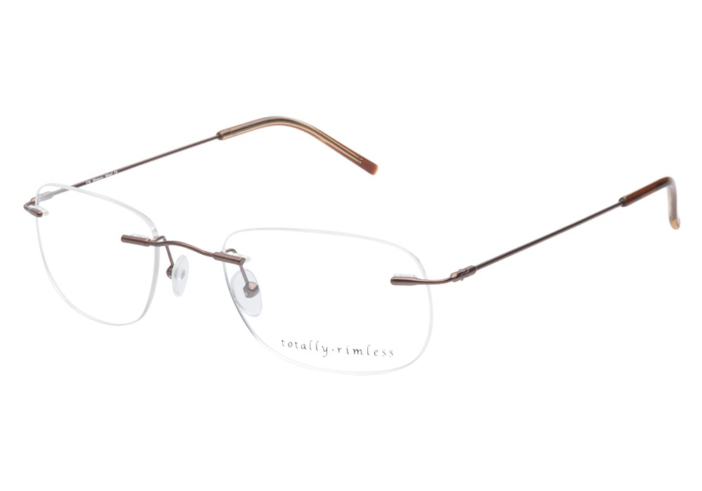 Rimless Glasses : Totally Rimless Glasses Totally Rimless TR134 Dark Brown ...