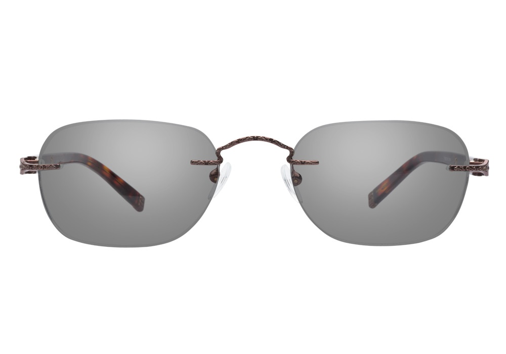 Totally Rimless Glasses Totally Rimless TR144 Brown ...