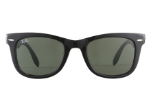 Ray-Ban RB4105 601 Folding Wayfarer Black 50