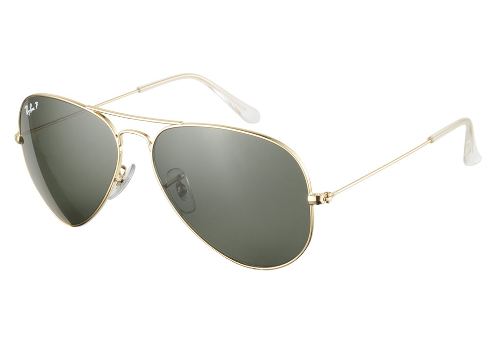 ray ban aviator 3025 gold polarized