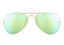 Ray-Ban RB3025 112 19 Aviator Gold Green Mirror 58