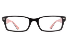 Ray-Ban RB5206 2479 Black Red Texture
